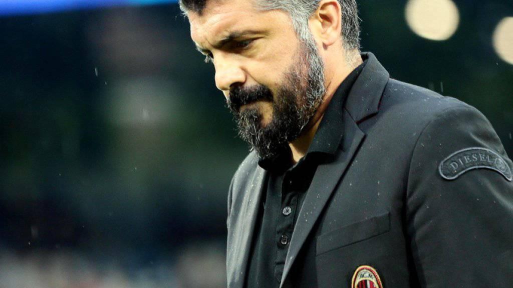 Die AC Milan trennte sich von Trainer Gennaro Gattuso