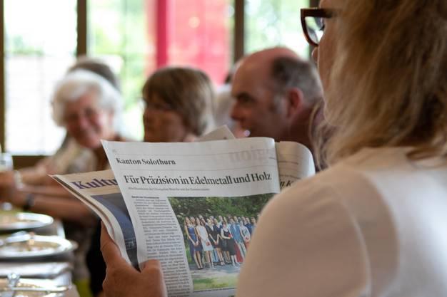 Für die Besucher aus Zürich gab es eine Kostprobe des Oltner Tagblatts.