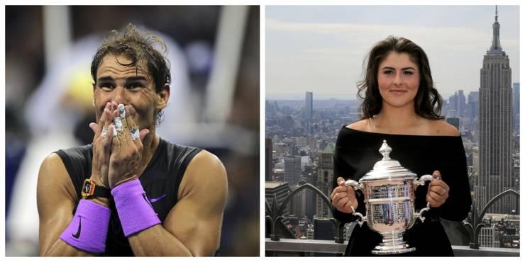 Mit Rafael Nadal und Bianca Andreescu fehlen die Titelverteidiger im Einzel.