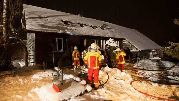 Brand in Bauernhaus im Bettwiler Weiler Brandholz