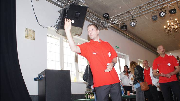 Alex Fehlmann, amtierender Schweizer Meister beim Show-Darts. RUBU