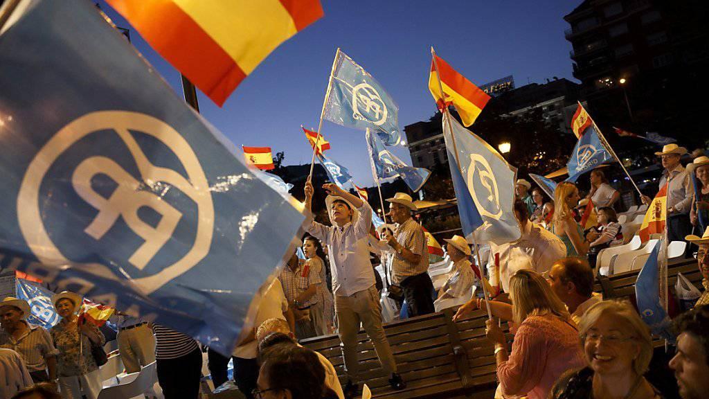 Wahlveranstaltung in Madrid.