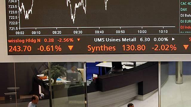 Schweizer Börse auf tiefstem Stand seit Februar