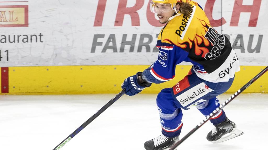 Sven Andrighetto ist für die ZSC Lions am Sonntag gegen Servette wieder dabei