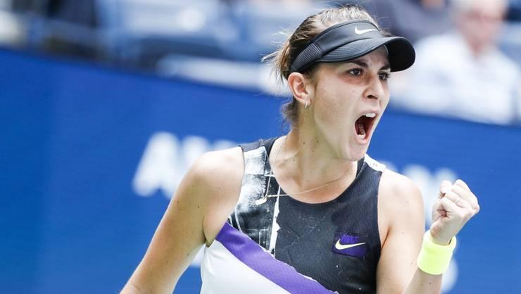 In New York nicht zu stoppen: Belinda Bencic steht am US Open erstmals im Halbfinal eines Grand-Slam-Turniers.