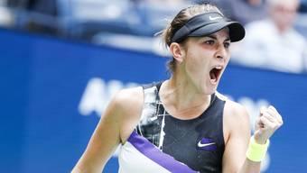 Belinda Bencic steht am US Open erstmals im Halbfinal eines Grand-Slam-Turniers.