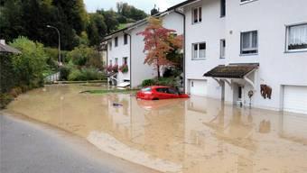 So hat das Hochwasser im Oktober 2012 den Kanalweg in Uerkheim geflutet. ran/archiv