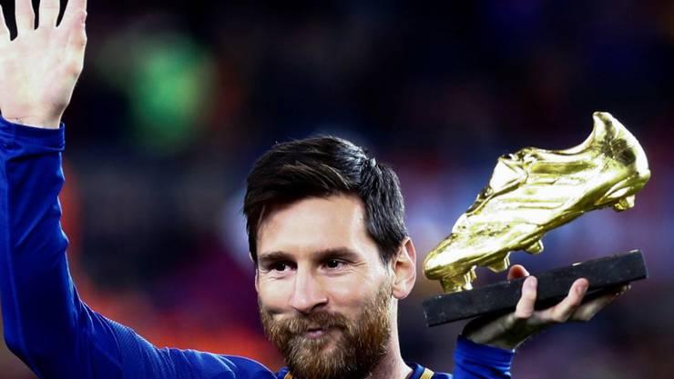 Lionel Messi ist seit 2017 zum dritten Mal in Folge der beste Torschütze Europas