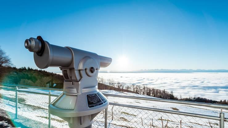 Ausflugsziele in der Region Solothurn über die Festtage: Der Blick vom Weissenstein am 1. Januar 2020 aufs Nebelmeer