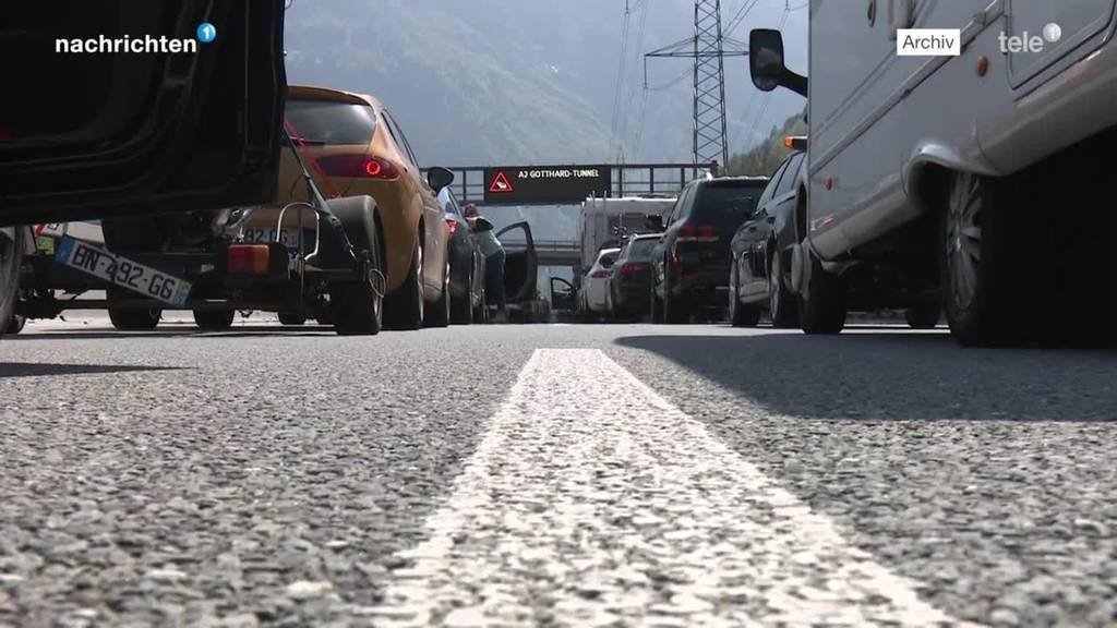 Beginn Osterstau am Gotthard