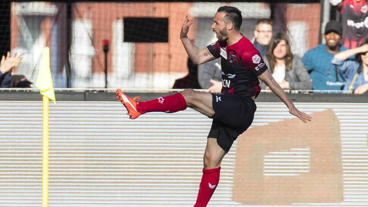 Im Alter von 35 Jahren der treffsicherste Spieler der Neuenburger: Raphaël Nuzzolo.