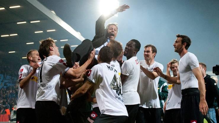 Lucien Favre hat Borussia Mönchengladbach vor dem Abstieg aus der 1. Bundesliga bewahrt.