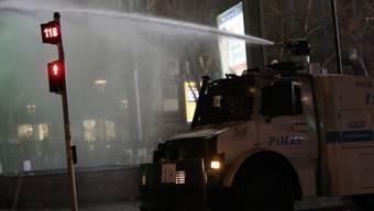 Auch in Ankara wurden Wasserwerfer eingesetzt