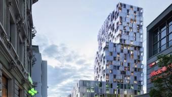 2019 sollen die ersten Beiträgeaus dem Meret-Oppenheim-Hochhaus gesendet werden.