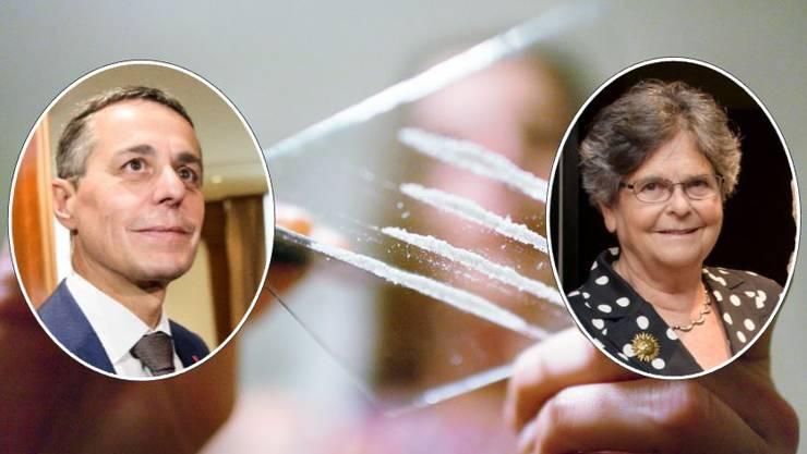 Ignazio Cassis und Ruth Dreifuss sind für die Legalisierung von Kokain