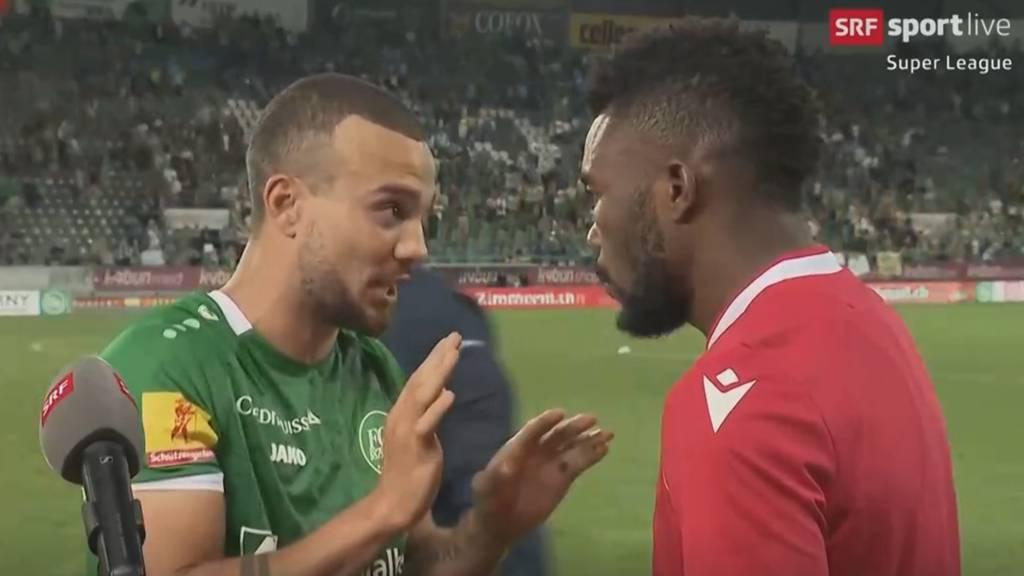 Angeblicher Rassismus nach Super-League-Spiel in St. Gallen: Hier platzt Dié ins Lüchinger-Interview