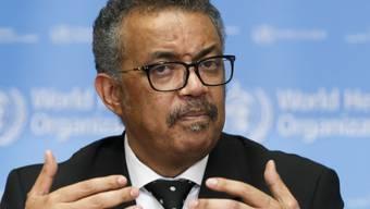 """WHO-Chef Tedros Adhanom Ghebreyesus bezeichnete den Coronavirus-Ausbruch als """"Notlage für China, aber auch eine ernsthafte Bedrohung für den Rest der Welt""""."""