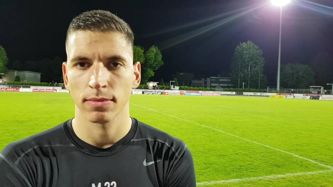 Djordje Nikolic nach dem FCA-Sieg in Chiasso