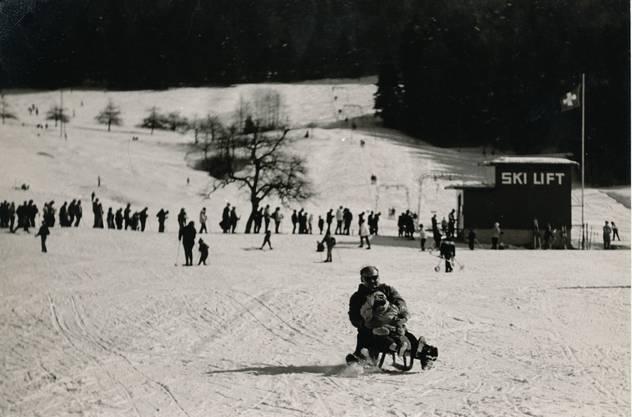 1965 wurde der neugebaute Skilift Bäretswil eröffnet