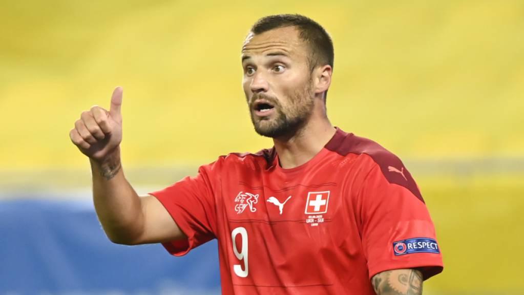 Daumen hoch für Haris Seferović: Der Stürmer des Schweizer Nationalteams zeigt sich auch im Club als erfolgreich.