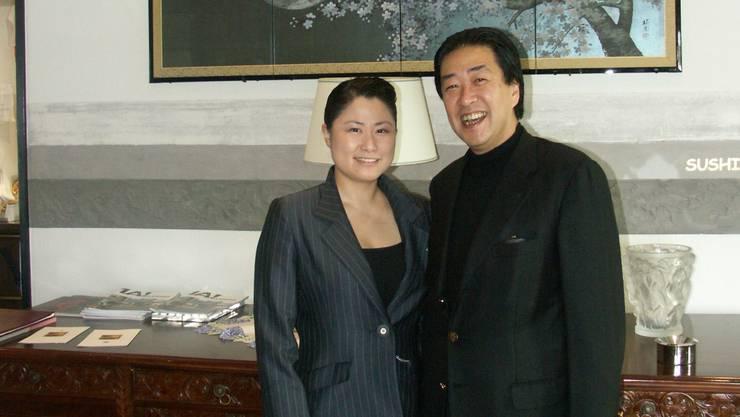 Yoshiko und Masafumi Kurahayashi betreiben das Restaurant auf dem Hasenberg bei Widen seit 16 Jahren.