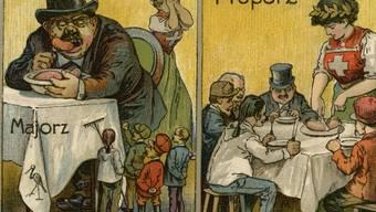"""Mit dieser Postkarte warb 1910 das """"Schweizerische Agitations-Comité für den Nationalrats-Proporz"""" - vorerst vergeblich."""