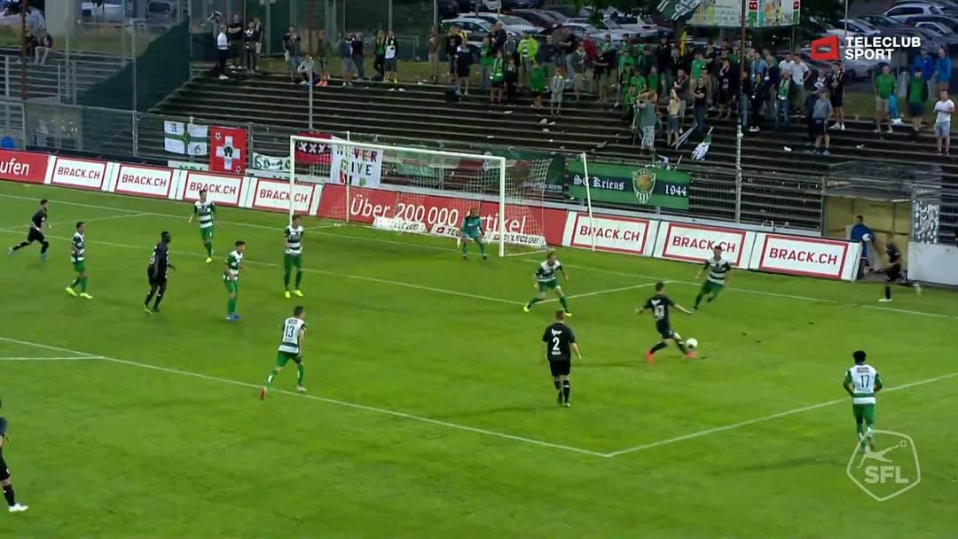 Challenge League 19/20 Runde 2: FC Aarau - SC Kriens 27.7.19 - 4:1 FC Aarau von Petar Misic (Assist: Patrick Rossini)