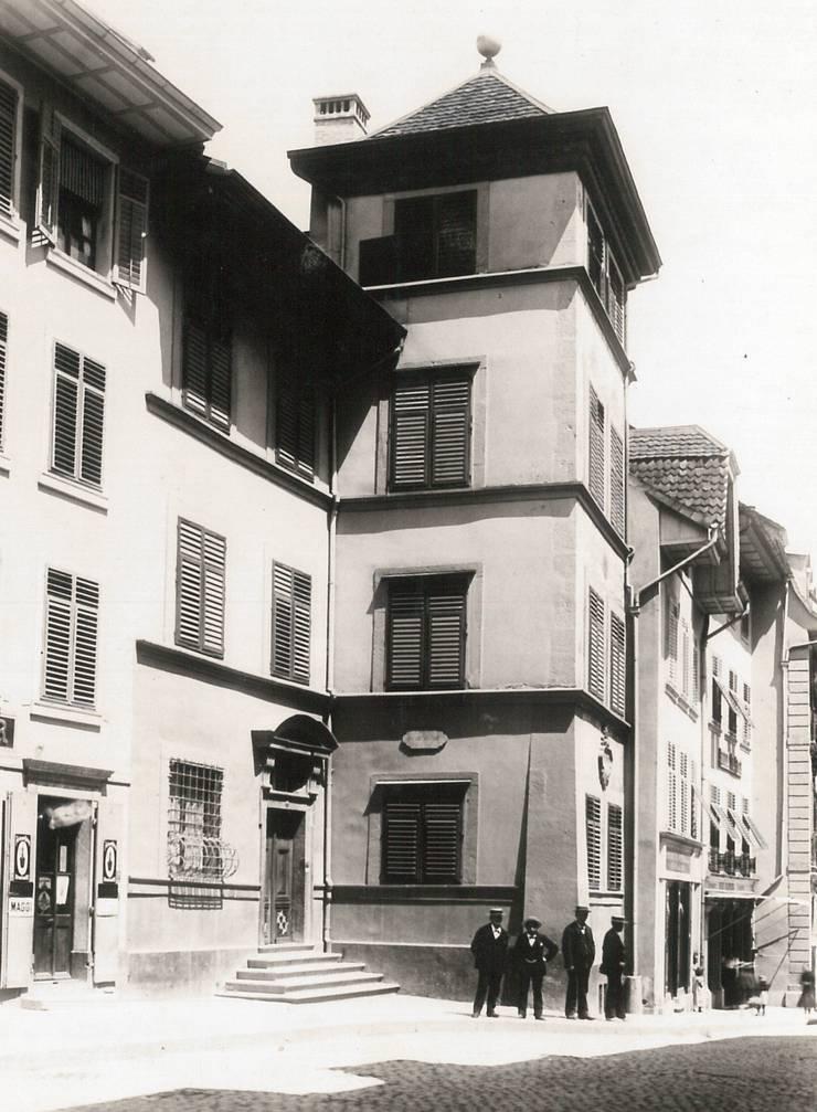 Das Kosciuszkohaus an der Gurzelngasse 12 um zirka 1910