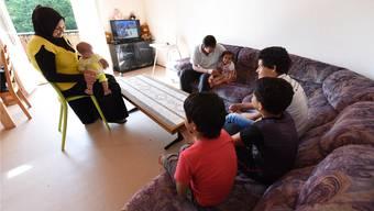 Diese und sechs weitere syrische Familien leben seit Kurzem in der «Station Lampenberg».