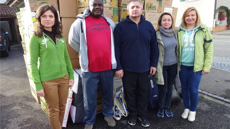 Grosse Anteilname: 90 Bananenschachteln mit Hilfsgütern wurden in Möhlin für die Ukraine verladen.