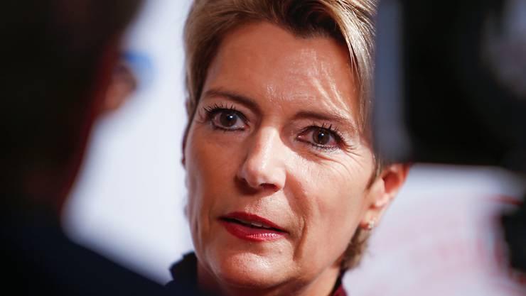 Bundesrat als nächste Etappe einer schnörkellosen Karriere: die frisch gewählte Bundesrätin Karin Keller-Sutter. (Archivbild)