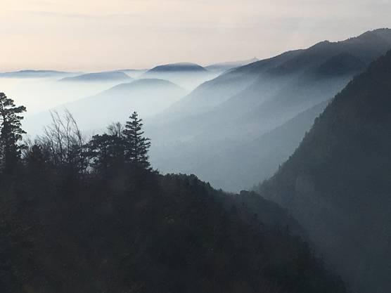 Blick aufs Nebelmeer vom Weissenstein