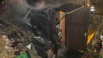 Der Brand in Frick verursachte einen Schaden von mehreren tausend Franken.