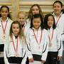 Auch Mädchen der Kunstturnerinnen-Riege, hier bei der (coronakonformen) Sportlerehrung 2020, können wieder trainieren.