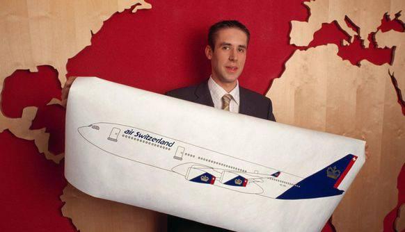 Möchtegern-CEO Mario Ritter Die 2002 präsentierte Air Switzerland hob mit ihren Langstreckenmaschinen nie ab.