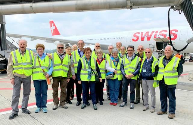 Das Photoshutting vor dem Airbus !