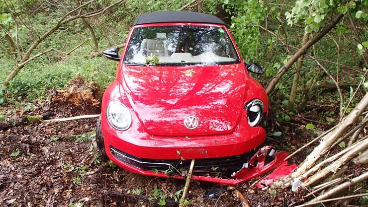 Die Automobilistin hatte Glück und blieb unverletzt.