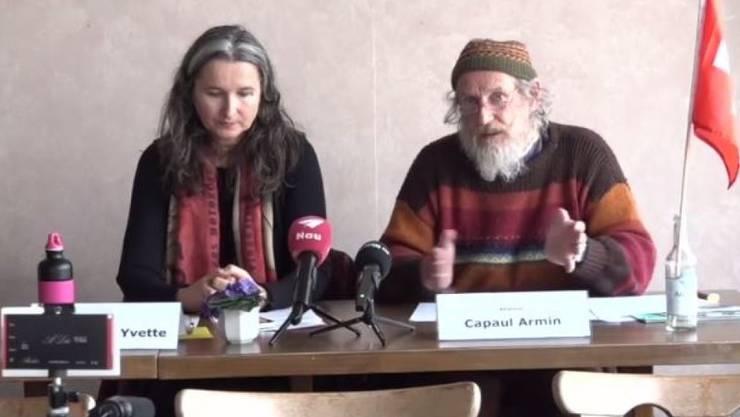 Wollen künftig keine Sommerzeit mehr: Nationalrätin Yvette Estermann und Hornkuh-Initiant Armin Capaul.