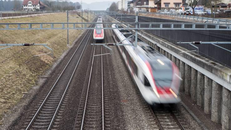 Die neue Schlaufe gehört zur «Leistungssteigerung Rupperswil-Mägenwil». (Archivbild)