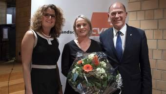 CVP Nationalrätin Elisabeth Schneider-Schneiter wird zur Bundesratskandidatin nominiert.