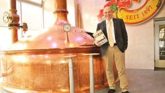 Felix Meier, Geschäftsführer Brauerei Müller, sieht das Label «Swiss premium beer» seiner neusten Bierkreation «Pale Ale» nicht in Gefahr.
