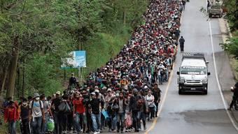Tausende Menschen durchqueren derzeit Guatemala in Richtung Norden. Das Ziel der «Karawane»: Die Vereinigten Staaten von Amerika.