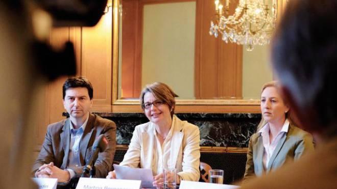 Im Überlebenskampf: GLP-Parteipräsident David Wüest und seine Regierungsratskandidatin Martina Bernasconi. Foto: Kenneth Nars