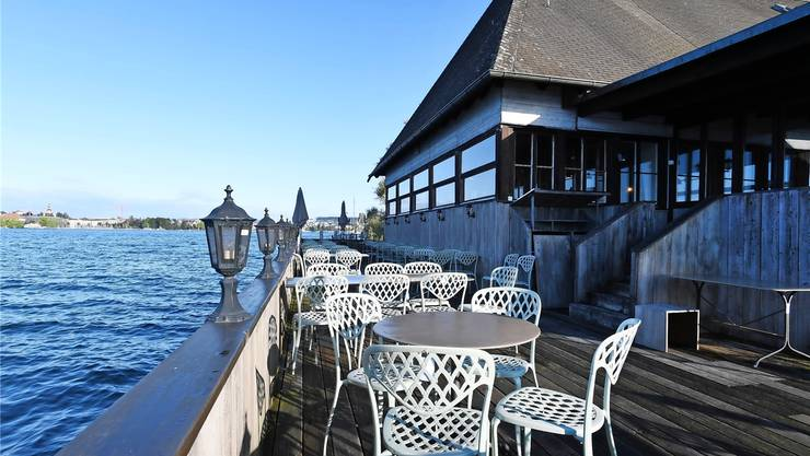 Auch die Stühle der «Fischstube» stehen zum Verkauf.