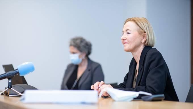 Regierungsrätin Susanne Schaffner an einer Medienkonferenz am Sonntag.