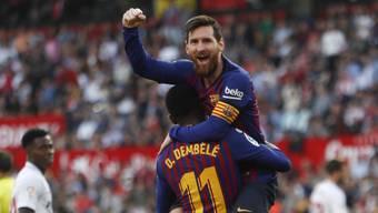 Lionel Messi schwang auch in Sevilla obenaus und erzielte drei Tore
