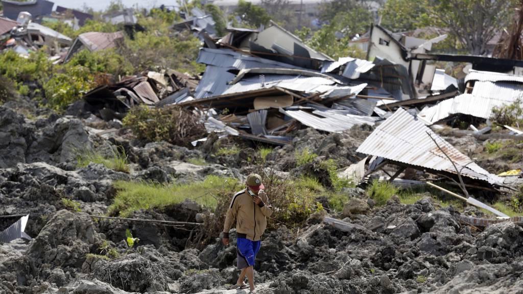 Erdbeben und Tsunami hinterlassen Bild der Zerstörung