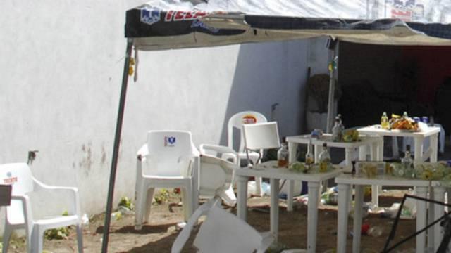 Das Partylokal nach dem Überfall