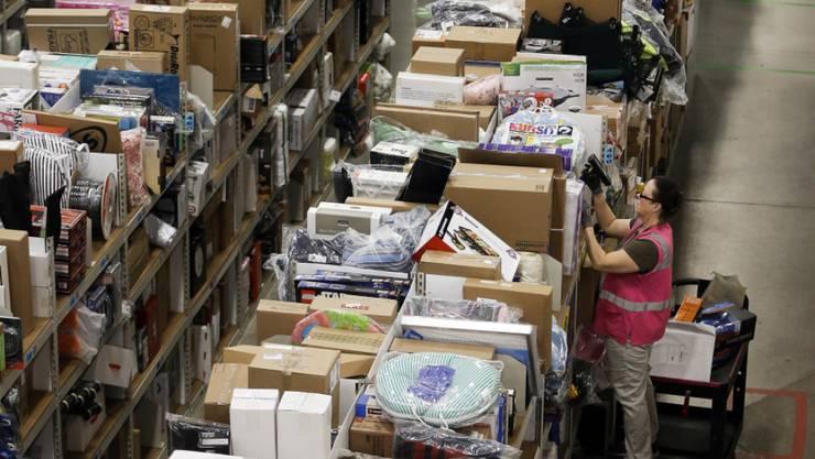 Verteilzentrum des US-Versandhändlers Amazon in Lebanon im Bundesstaat Tennessee. (Archivbild)