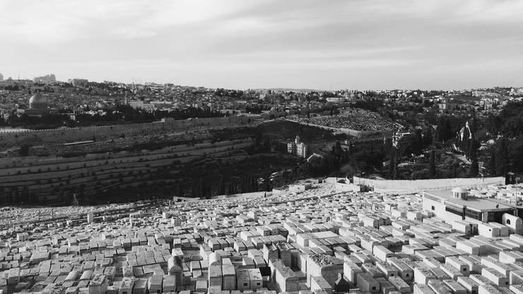 Die Altstadt von Jerusalem vom Ölberg aus.